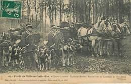 VILLERS COTTERETS - CHASSE A COURRE - EQUIPAGE MENIER - RDV Au Carrefour Du Bois-Brûlé - 163 - édit Risse - Villers Cotterets