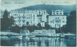 Abbazia 1925; Hôtel Strand - Circulated. (Tomasic & Co. - Abbazia) - Croatia