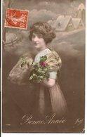 L60b159 - Bonne Année - Portrait De Femme Avec Fourrure -  Meissel N°1732 - New Year