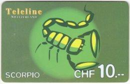 SWITZERLAND D-156 Prepaid Teleline - Signs Of Zodiac, Scorpio - Used - Suisse