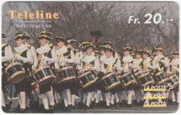 SWITZERLAND D-144 Prepaid Teleline - Culture, Traditional Musicians - Used - Schweiz