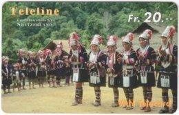 SWITZERLAND D-141 Prepaid Teleline - Culture, Traditional Dancer - Used - Suisse