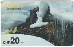 SWITZERLAND D-131 Prepaid Teleline - Landscape, Winter - Used - Suisse