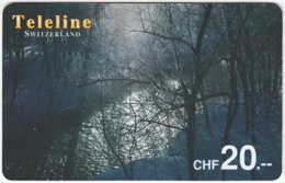 SWITZERLAND D-130 Prepaid Teleline - Landscape, Winter - Used - Suisse