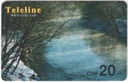 SWITZERLAND D-129 Prepaid Teleline - Landscape, Winter - Used - Suisse