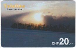 SWITZERLAND D-128 Prepaid Teleline - Landscape, Winter - Used - Schweiz