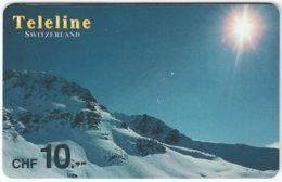 SWITZERLAND D-127 Prepaid Teleline - Landscape, Winter - Used - Suisse