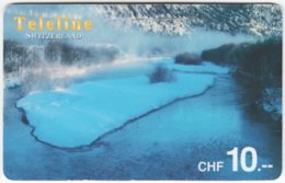 SWITZERLAND D-126 Prepaid Teleline - Landscape, Winter - Used - Suisse