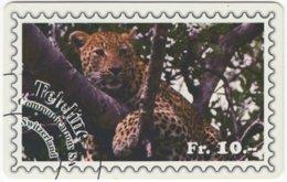 SWITZERLAND D-120 Prepaid Interroute - Animal, Cat, Leopard - Used - Schweiz