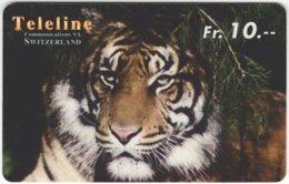 SWITZERLAND D-118 Prepaid Interroute - Animal, Cat, Tiger - Used - Schweiz