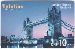 SWITZERLAND D-116 Prepaid Teleline - Landmark, Tower Bridge - Used - Suisse
