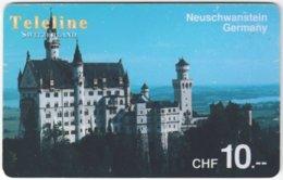 SWITZERLAND D-115 Prepaid Teleline - Landmark, Neuschwanstein - Used - Schweiz