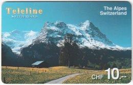 SWITZERLAND D-113 Prepaid Teleline - Landscape, Mountains - Used - Schweiz