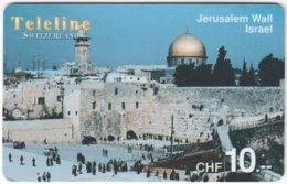 SWITZERLAND D-111 Prepaid Teleline - Landmark, Jerusalem - Used - Schweiz