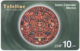 SWITZERLAND D-110 Prepaid Teleline - Culture, Aztec Calendar - Used - Suisse