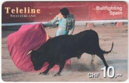 SWITZERLAND D-109 Prepaid Teleline - Culture, Bullfighting In Spain - Used - Suisse