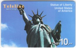 SWITZERLAND D-106 Prepaid Teleline - Landmark, Statue Of Liberty - Used - Schweiz
