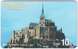 SWITZERLAND D-103 Prepaid Teleline - Culture, Castle - Used - Schweiz