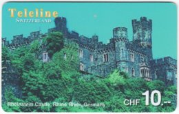 SWITZERLAND D-102 Prepaid Teleline - Culture, Castle - Used - Schweiz