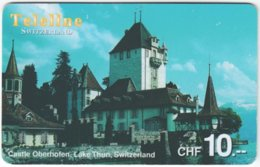 SWITZERLAND D-101 Prepaid Teleline - Culture, Castle - Used - Suiza