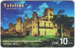 SWITZERLAND D-099 Prepaid Teleline - Culture, Castle - Used - Suisse