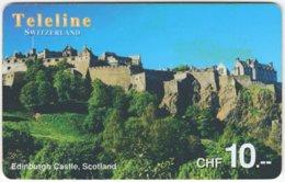 SWITZERLAND D-098 Prepaid Teleline - Culture, Castle - Used - Suiza