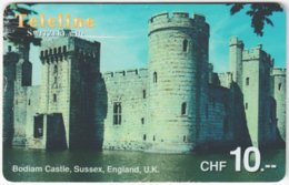 SWITZERLAND D-095 Prepaid Teleline - Culture, Castle - Used - Suiza