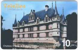 SWITZERLAND D-094 Prepaid Teleline - Culture, Castle - Used - Suisse