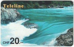 SWITZERLAND D-091 Prepaid Teleline - Landscape, Waterfall - Used - Schweiz