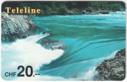 SWITZERLAND D-091 Prepaid Teleline - Landscape, Waterfall - Used - Suisse