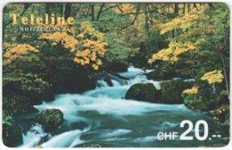 SWITZERLAND D-090 Prepaid Teleline - Landscape, Waterfall - Used - Suisse
