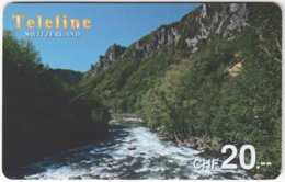 SWITZERLAND D-089 Prepaid Teleline - Landscape, Waterfall - Used - Schweiz