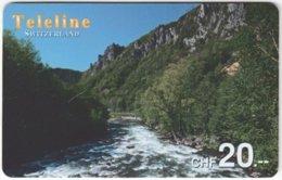 SWITZERLAND D-089 Prepaid Teleline - Landscape, Waterfall - Used - Suisse