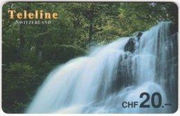 SWITZERLAND D-088 Prepaid Teleline - Landscape, Waterfall - Used - Suisse