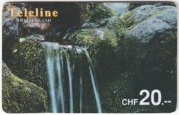 SWITZERLAND D-087 Prepaid Teleline - Landscape, Waterfall - Used - Schweiz