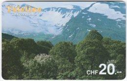 SWITZERLAND D-086 Prepaid Teleline - Landscape, Mountains - Used - Suisse