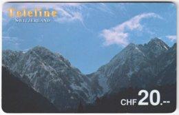 SWITZERLAND D-085 Prepaid Teleline - Landscape, Mountains - Used - Schweiz