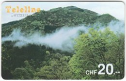 SWITZERLAND D-084 Prepaid Teleline - Landscape, Mountains - Used - Schweiz
