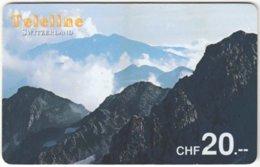 SWITZERLAND D-083 Prepaid Teleline - Landscape, Mountains - Used - Suisse