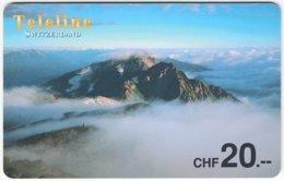 SWITZERLAND D-082 Prepaid Teleline - Landscape, Mountains - Used - Suisse