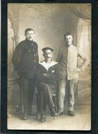 Carte Photo - Militaires Et Marin - Weltkrieg 1914-18