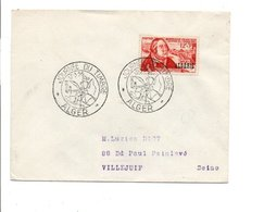 ALGERIE FDC 1956 JOURNEE DU TIMBRE ALGER - FDC