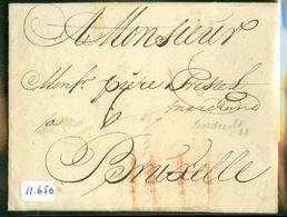 1738 POSTHISTORIE * VOORLOPER * HANDGESCHREVEN BRIEF Uit 1738 Van DORDRECHT Naar BRUXELLE BRUSSEL BELGIE  (11.650) - Pays-Bas