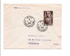 ALGERIE FDC 1954 SAINT AUGUSTIN - FDC
