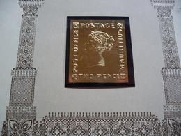 (2) MAURITIUS GOLD STAMP DIE BLAUWE MAURITIUS  SEE SCAN - Mauritius (1968-...)