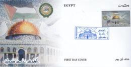 Fdc`s EGYPT 2019 Al Quds Capital Of Palestine Flag */ - Egypt