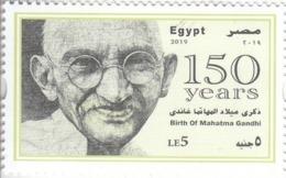 Stamps EGYPT 2019 MAHATMA GANDHI INDIA BIRTH 150 ANNIV, FIRST MATTE PRINTING MNH */* - Egypte