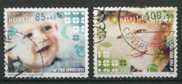 15884 SUISSE N°2150,2152° Pro Juventute : 85c.+40c. Bébé, 1F+50c. Garçon   2011    TB - Pro Juventute
