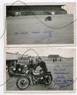 2 PHOTOS. Ancienne Moto NORTON. Ancienne Voiture. Photo Dédicacée - Cars