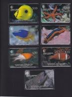 DIEGO GARCIA , DGA-R-63-69 , 1st MARINE LIFE  SET ,  7 Cards , MINT / UNUSED , CONTROL NUMBERS 00018 - Diego-Garcia